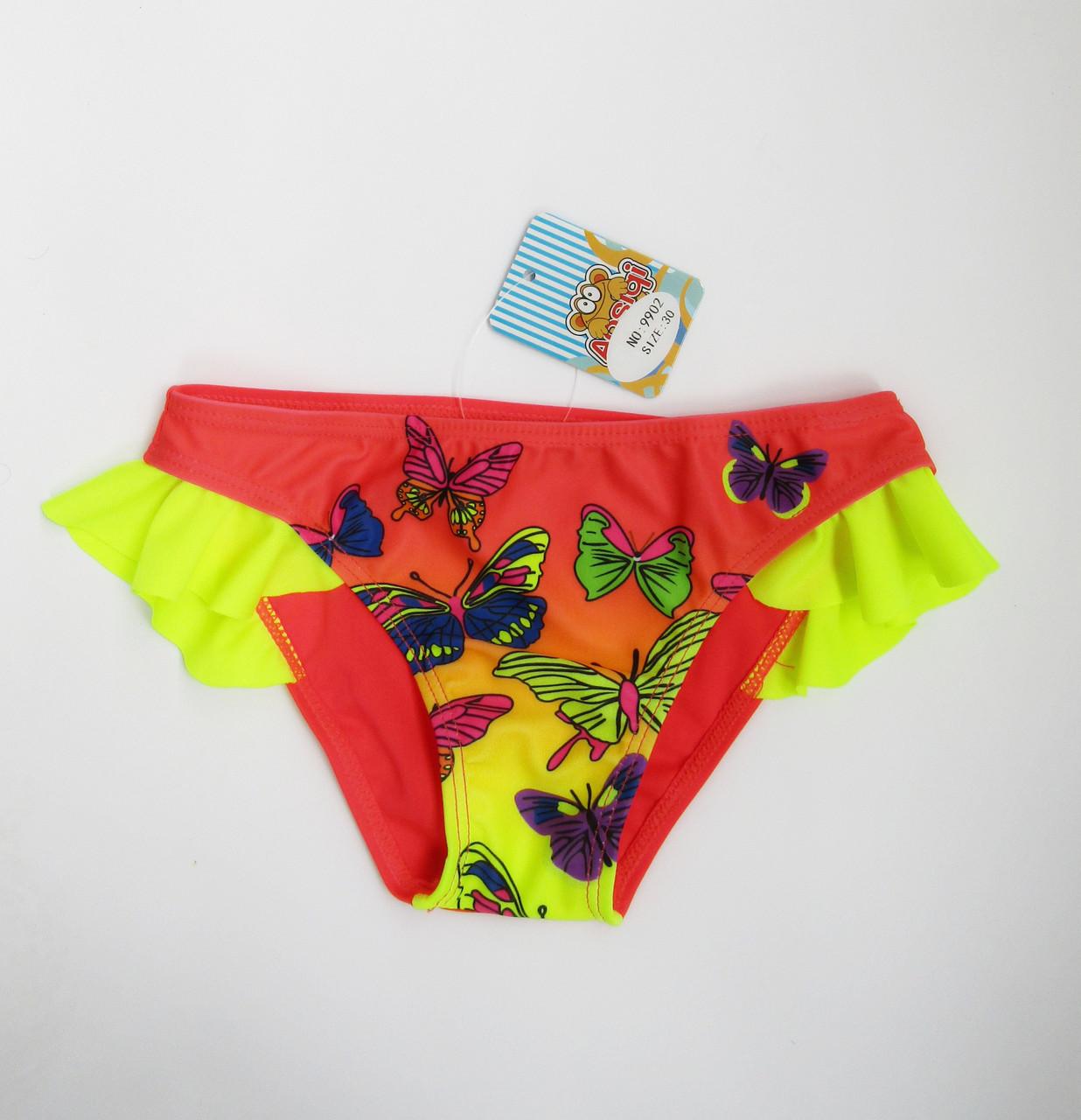 Купальные детские плавки для девочки Коралл