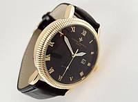 Мужские часы Vacheron на черном ремешке, кварцевые VC06