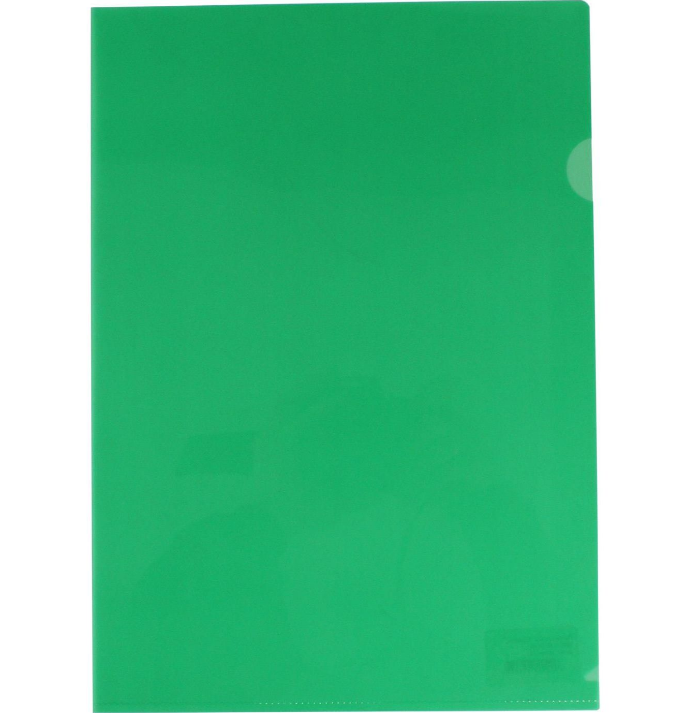Папка-куточок А4 щільна зелена 180мк N31153-04