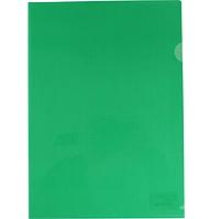 Папка-уголок А4 плотная зеленая 180мк