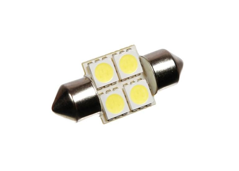 Светодиодная автолампа T10, 28mm, 4pcs 5050