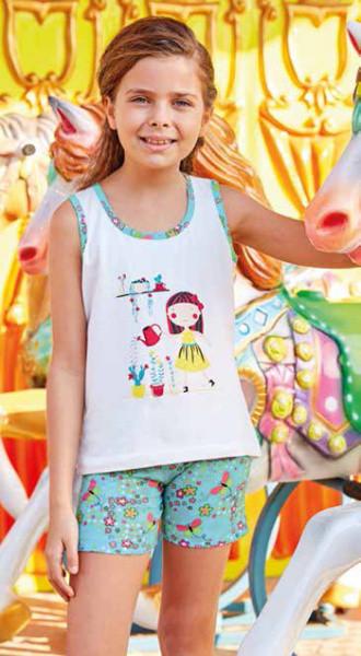 Комплект для девочки 6568 майка+шорты