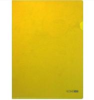 Папка-уголок А4 плотная желтая