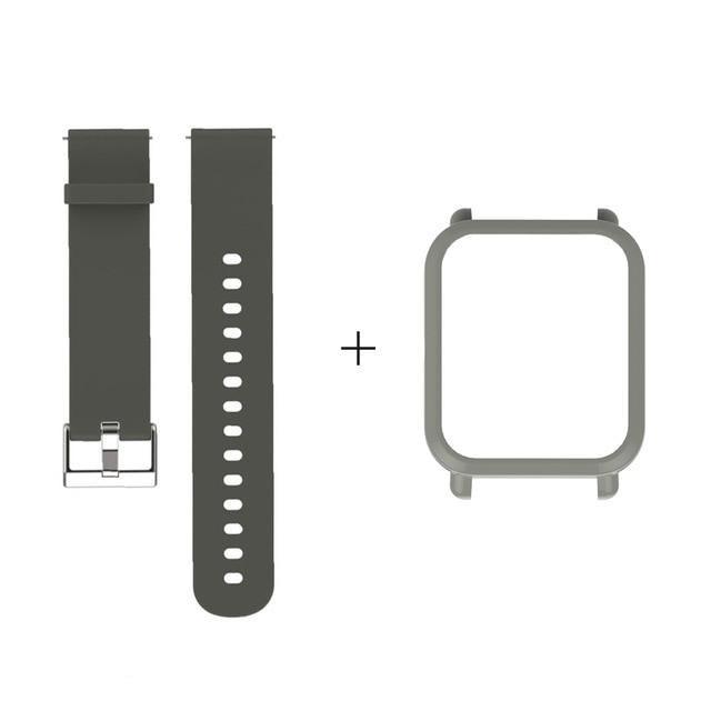 Amazfit Bip Комплект для смарт часов (ремешок и бампер), Army green