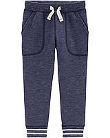 Синие штаны из футера Картерс для мальчика