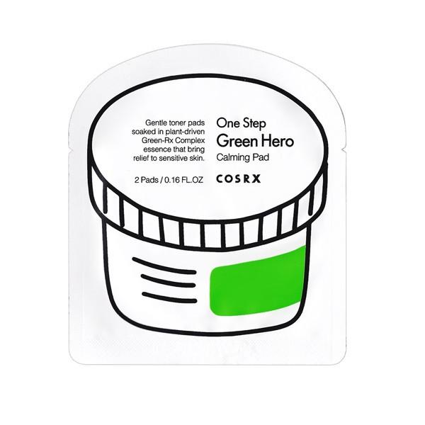 COSRX One Step Green hero Calming Pad Пробник пилинг дисков для чувствительной кожи