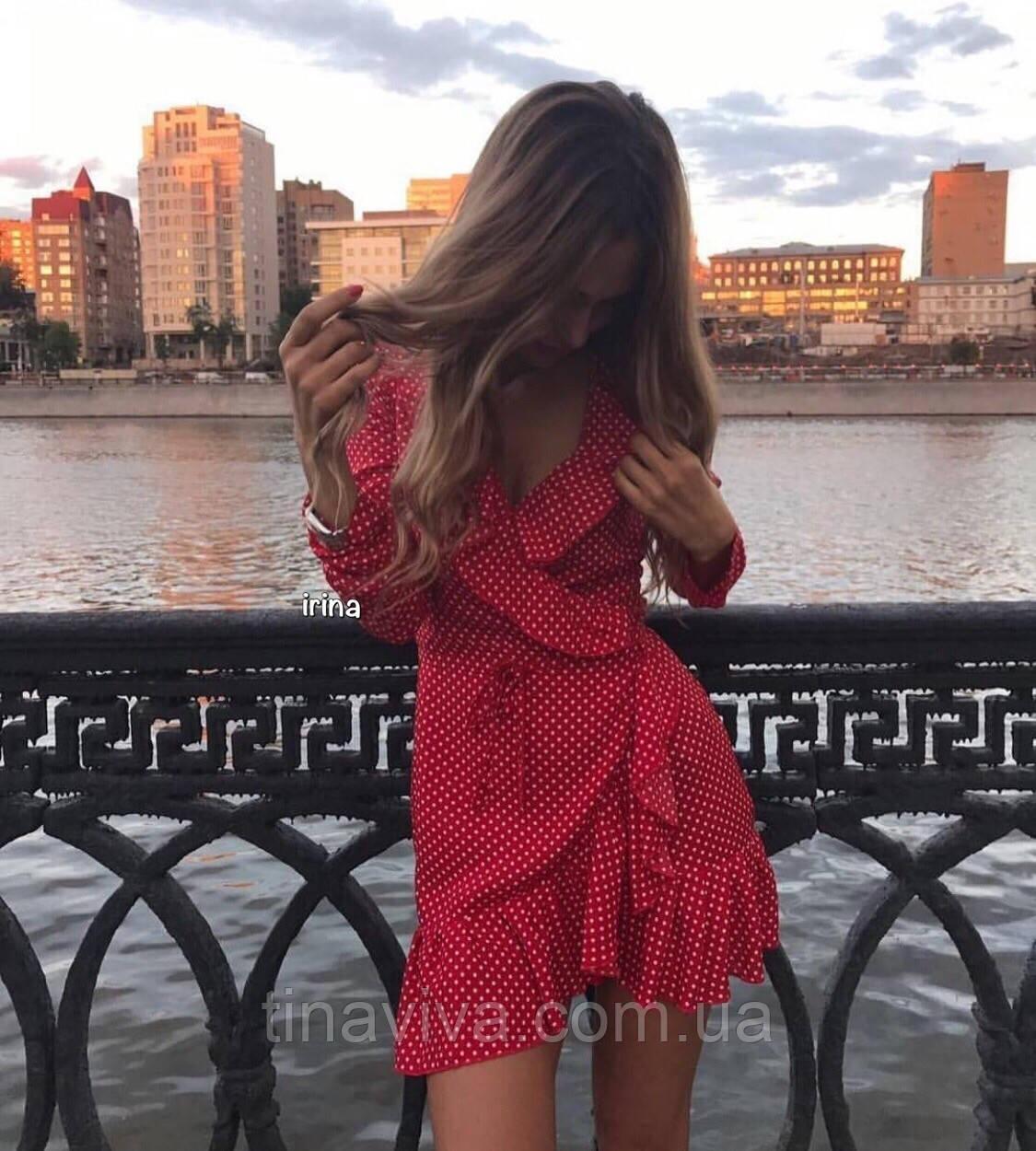 """женское летнее платье в горошек   (жіноча сукня ) """"Джули"""" 3 цвета"""