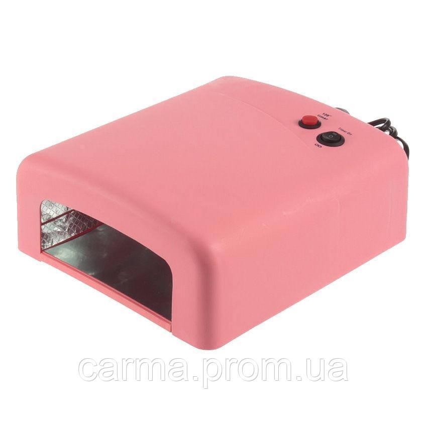 УФ лампа для маникюра ZH 818 36 Вт Розовая