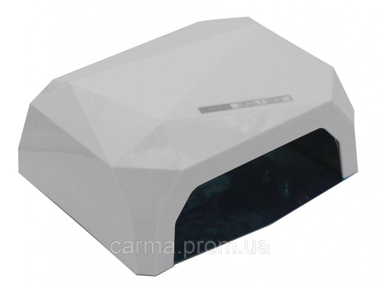 Лампа для маникюра гибридная DIAMOND CCFL+LED 36W Белая
