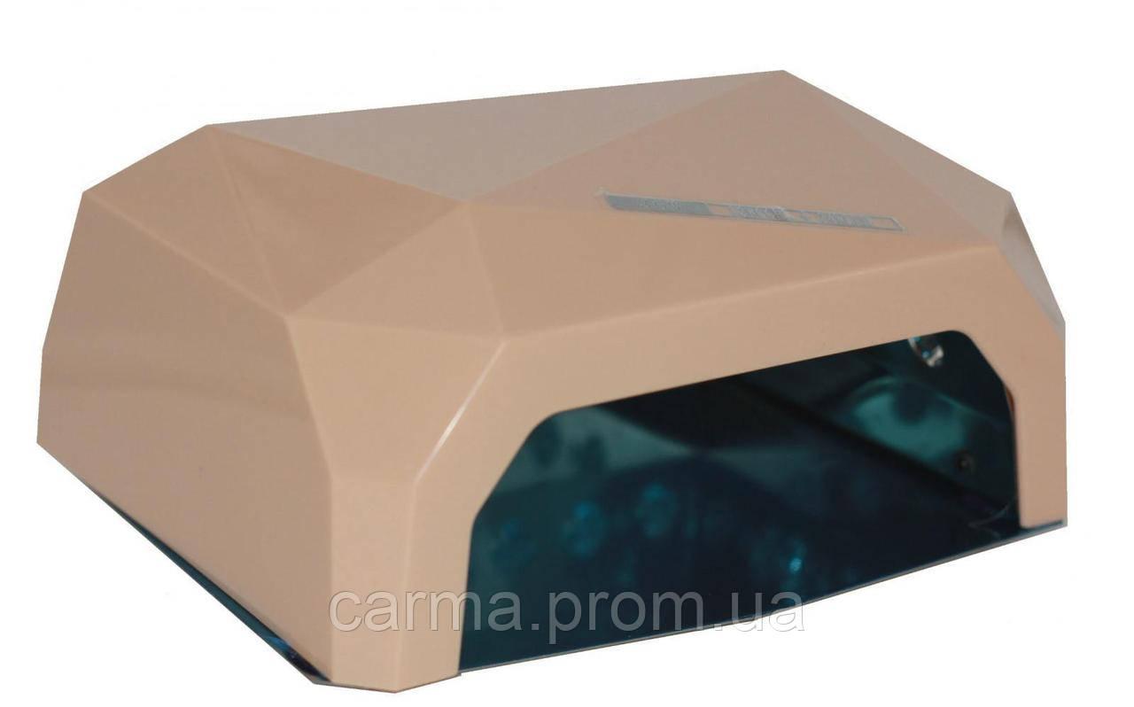 Лампа для маникюра гибридная DIAMOND CCFL+LED 36W Кремовая
