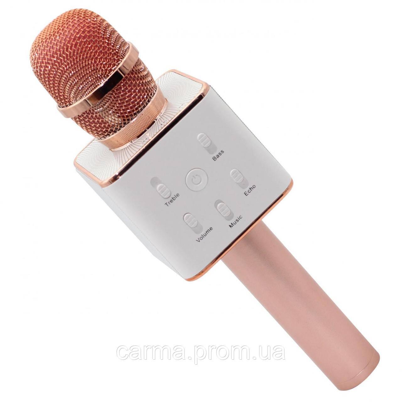 Караоке микрофон KTV Q7 Розовый