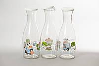 Бутылка стеклянная Буренка 1 л Everglass для молока