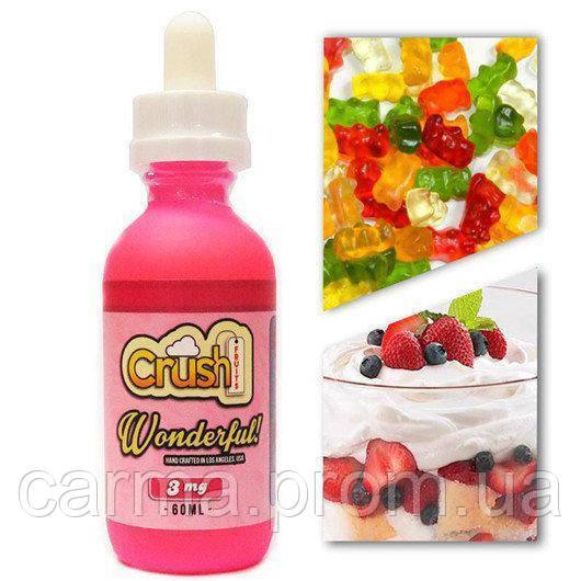 Жидкость для электронных сигарет с никотином Crush 3мг 60мл вкус малиновой карамели
