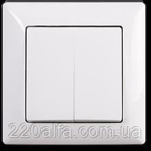 Выключатель 2 кл. Visage, Gunsan (белый и крем)