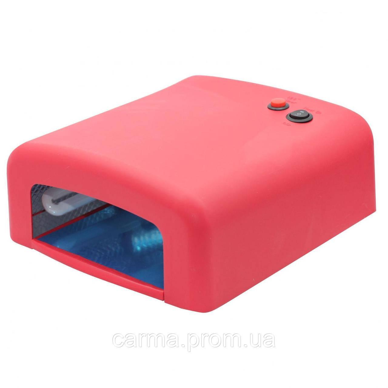 УФ лампа для маникюра ZH 818 36 Вт Красная