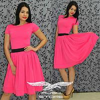 Расклешенное платье до колена, фото 1