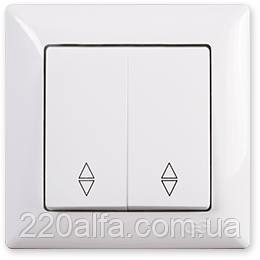 Выключатель проходной 2 кл. Visage, Gunsan (белый и крем)