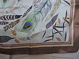 Шовковий хустку (атлас) 10077-16, павлопосадский хустку (атлас) шовковий з подрубкой, фото 8