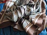 Шовковий хустку (атлас) 10077-16, павлопосадский хустку (атлас) шовковий з подрубкой, фото 5
