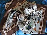 Шовковий хустку (атлас) 10077-16, павлопосадский хустку (атлас) шовковий з подрубкой, фото 9