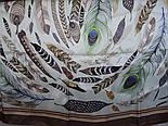 Шовковий хустку (атлас) 10077-16, павлопосадский хустку (атлас) шовковий з подрубкой, фото 6