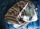 Шовковий хустку (атлас) 10077-16, павлопосадский хустку (атлас) шовковий з подрубкой, фото 10