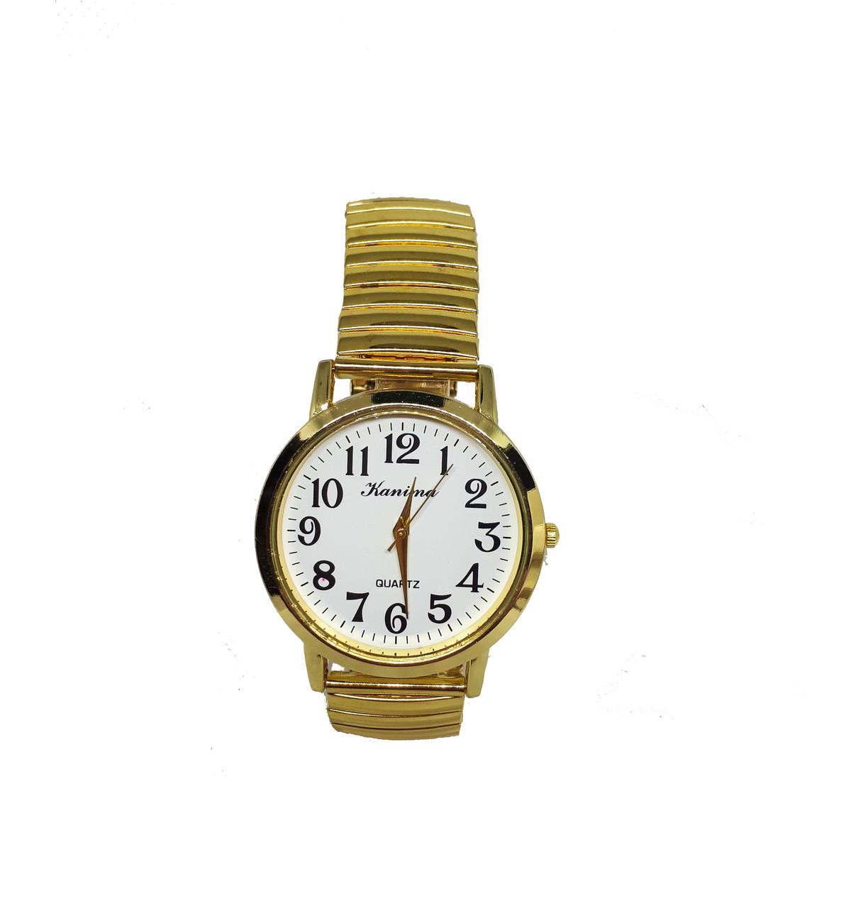 Часы мужские кварцевые Kanima на  браслете  под золото 40мм