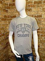 """Футболка подростковая для мальчика, """"New York"""", 3D, 12-15 лет, серая"""