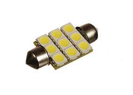 Светодиодная автолампа T10, 36mm, 9pcs 5050