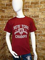 "Футболка подростковая для мальчика, ""New York"", 3D, 12-15 лет, красная"