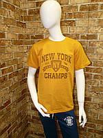 "Футболка подростковаядля мальчика, ""New York"", 3D,12-15 лет, желтая"