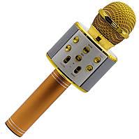 Караоке микрофон KTV WS 858 Золотой, фото 1