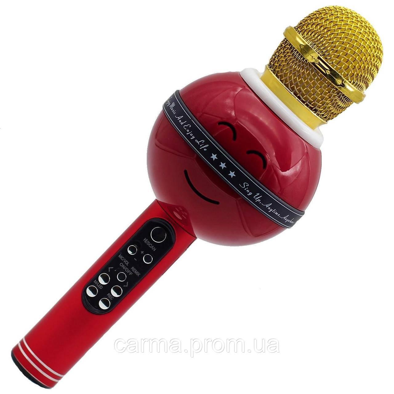 Караоке микрофон Wster WS 878 Красный