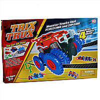 Игровой набор Trix Trux Monster Truk Канатный трек Монстер Трак 1 машинка голубая, фото 1