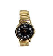 Часы мужские кварцевые Kanima на  браслете  под золото 40мм Черный