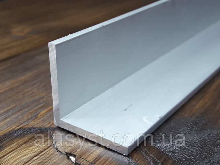 Уголок 20х20х2 алюминий, анод