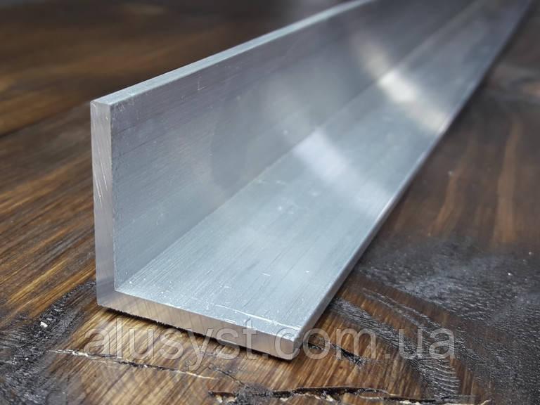 Уголок25х25х2 алюминий, без покрытия