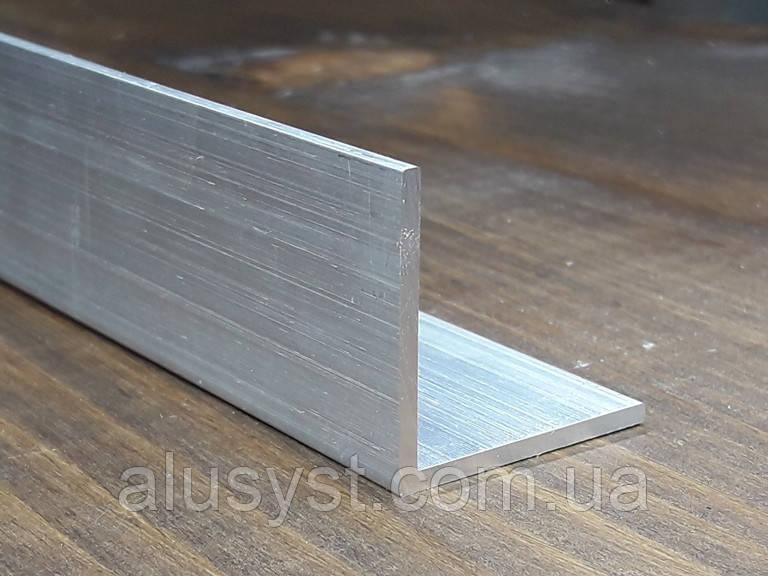 Уголок40х40х2 алюминий, без покрытия