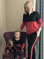 Весенне-летний костюм для мамы и дочки и вашего любимца Family Look Фэмили Лук