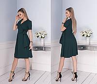Стильное женское платье на запах с поясом  , фото 1
