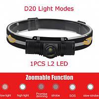 Налобный фонарь Boruit D20 XM-L2 Zoom