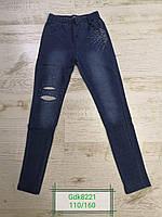 Лосины под джинс для девочек оптом, размеры 110-160р Glo-Story, арт. GDK-8221, фото 1
