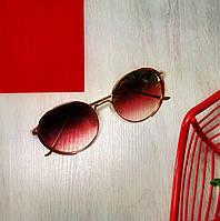 Солнцезащитные очки круглые красные