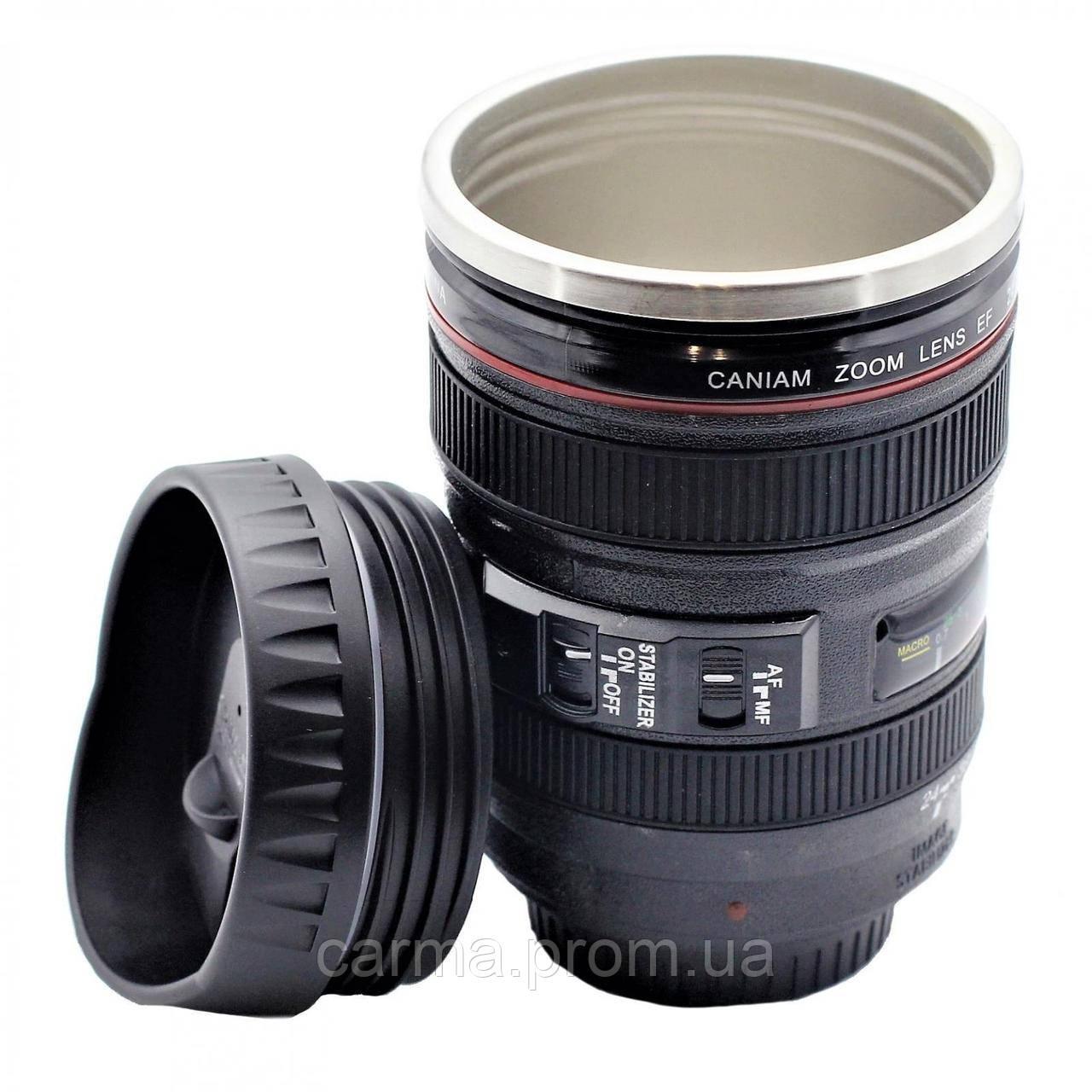 Термокружка чашка термос фотообъектив Caniam EF24-105mm