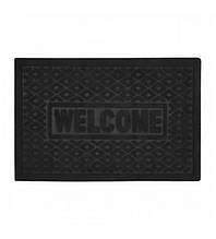 Придверні килимок без кромки з малюнком з ворсом МД чорний
