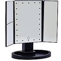 Зеркало для макияжа Superstar Magnifying Mirror с LED подсветкой Черное