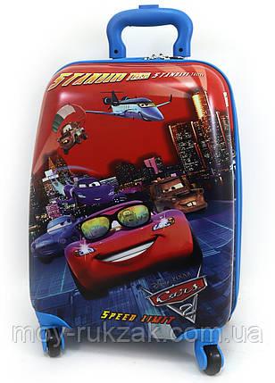 """Детский чемодан дорожный на колесах """"Josef Otten"""" Тачки, фото 2"""