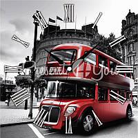 Настенные часы Панорама 'Лондонский автобус' 300Х300Х16мм