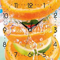 Настенные часы Панорама 'Лимонад' 300Х300Х16мм
