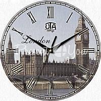 Настенные часы Vintage 'Лондон' d=330mm h=27мм (в часах нет секундной стрелки)